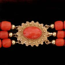 coral necklace antique images Antique coral necklace traditional dutch three strand coral jpg