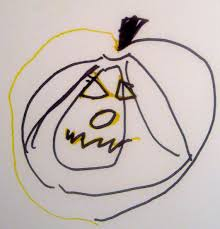 make double doodle pumpkin faces for halloween fun hearts at play