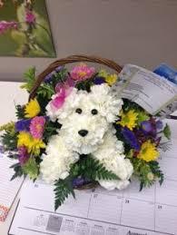 dog flower arrangement make your own puppy bouquet tutorial crafts