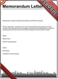 Business Letter Memorandum Example Memorandum Letter Sample
