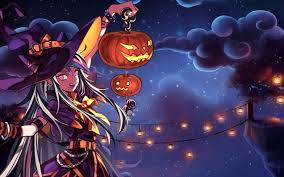 halloween anime pictures cute hd anime wallpaper