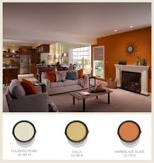 orange and yellow bring feelings of warmth and energy into a room