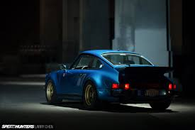 porsche 930 turbo blue made in la wheels fit for an outlaw speedhunters
