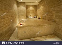 private turkish massage room in a luxury health spa stock photo