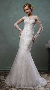 lace mermaid low back wedding dress
