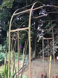 garden metal arch 2 arches for climbing plants roses antique