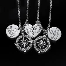 best friends necklace set images No matter where compass best friend necklace set iwisb jpg