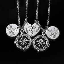 best friends necklace set images No matter where compass best friend necklace set iwisb jpg