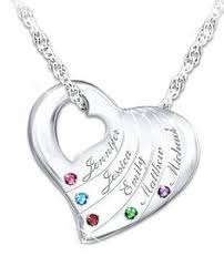mothers necklaces with children s names holds child s heart personalized pendant necklace