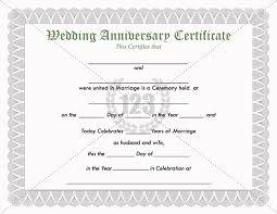 precious wedding anniversary certificate template free download