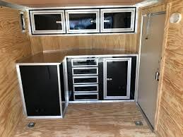 v nose trailer cabinets cabinets for enclosed trailer delightful design v nose trailer