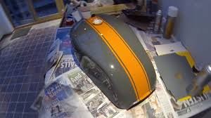 cafe racer build part 2 fuel tank painting 78 suzuki gs550 youtube
