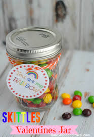 skittles valentine jar with printable family food and travel