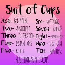 suit of cups quick reference visit http www noblelionprints com