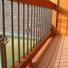 Metal Banister Spindles Bedroom The Most Popular Metal Deck Railing Balusters Pertaining