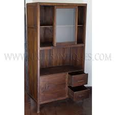 Art Deco Kitchen Cabinets by Colonial Burmese Art Deco Teak And Glass Kitchen Cabinet