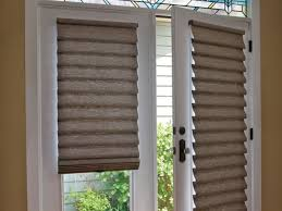 Blinds Or Curtains For French Doors - vignette modern roman shades on french doors door treatments