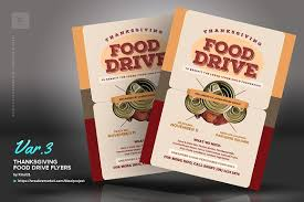 thanksgiving food drive flyers flyer templates creative market