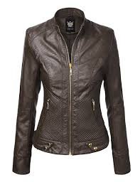ll womens hooded faux leather jacket at amazon women u0027s coats shop