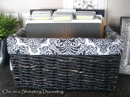 Organizing Clutter by Chic On A Shoestring Decorating How To Organize Paper Clutter