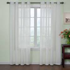 Living Room Curtains Bed Bath And Beyond Buy 63 Inch Sheer Curtain Panel From Bed Bath U0026 Beyond