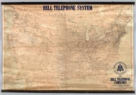 Map Of West Coast Of America And Canada by History Of The American Telephone System Map Of Bell Coverage In