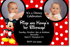 free mickey mouse clubhouse 1st birthday invitations drevio