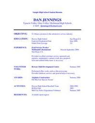 College Resume Builder High Student Resume Examples For College Resume Builder