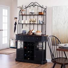 Wood Bakers Racks Furniture Wooden Bakers Rack With Drawers Decorate Bakers Rack With