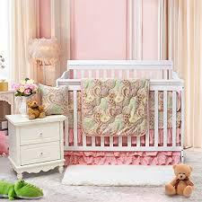 brandream paisley baby bedding set luxurious pink crib bedding set