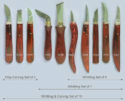 a wood carving set of edge tools that will handle larger carving