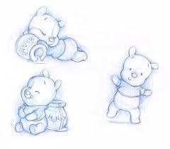 winnie pooh cute sketch kids sketches