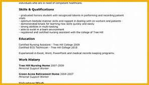 resume exles for high students skills checklist gallery of exle cna resume