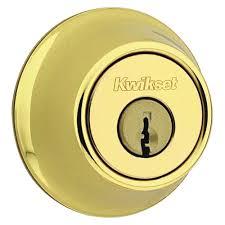 kwikset 665 series double cylinder polished brass deadbolt 665 3