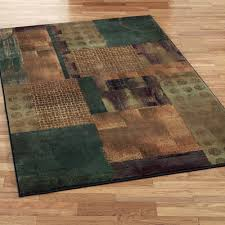 Blue Brown Area Rugs Contempo Block Area Rugs