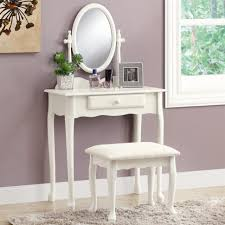 Vanity For Bedroom Bedroom White Wooden Makeup Table With Drawer And Light Mirror