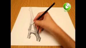 drawing 3d paris eiffel tower tour eiffel youtube