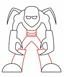 drawing a cartoon monster