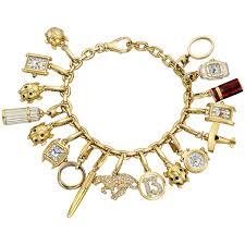 cartier bracelet charm images Estate cartier vintage 18k yellow gold charm bracelet betteridge jpg
