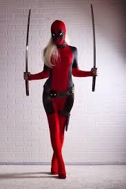 vire costumes deadpool costume spandex girl women
