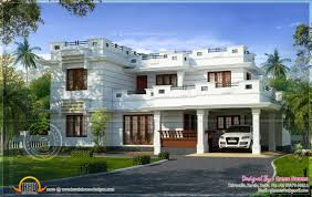 Kerala Home Design Floor Plan And Elevation by Roof Flat Roof Contemporary Floor Plans Kerala Home Design And