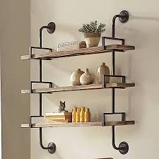 wall mounted shelving storage ideas