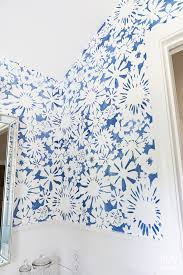 create faux wallpaper using paint and a stencil in my own style
