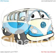 volkswagen hippie van clipart royalty free rf clipart illustration of a blue and white hippy