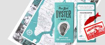 Where To Buy Maps New York City Oyster Guide By In A Half Shell