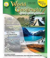 Different Types Of Maps World Geography Resource Book Grade 6 12 Carson Dellosa Publishing
