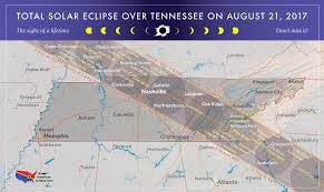 Map Of Tennessee And Georgia by 2017 Total Solar Eclipse In Tennessee