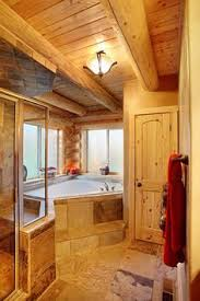 Log Cabin Bathroom Ideas Colors Mckay Model Home Hochstetler Log Homes Dream House Pinterest