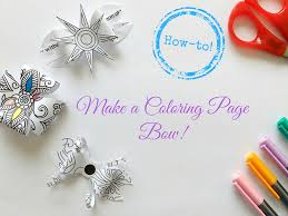 how to make a coloring page bow the coloring book club
