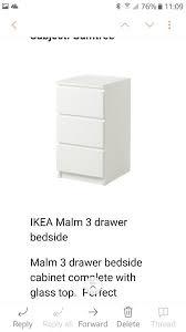 ikea white bedside table ikea white malm 3 drawer bedside table in dingle merseyside gumtree